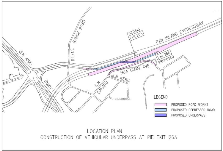 Proposed Vehicle Underpass PIE 26A