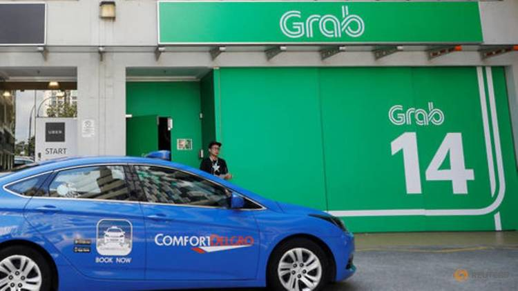 Taxi Passing Grab S Office