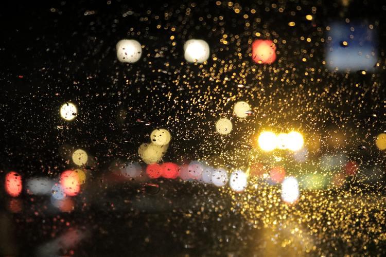 Wet Car Window Windshield Windscreen