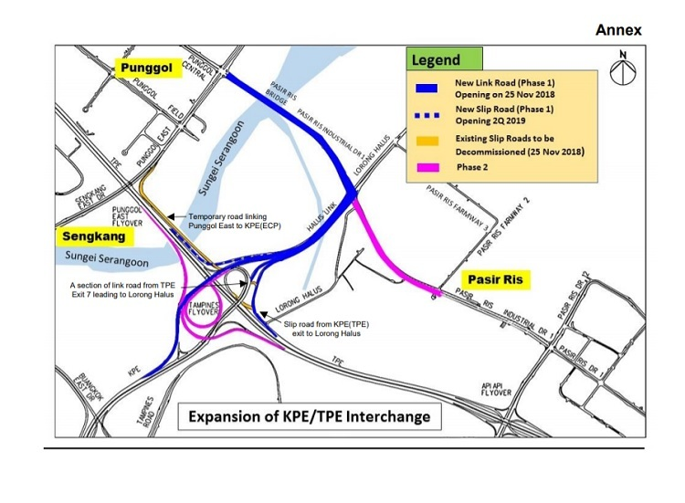 Motorist New Punggol Link Road Opens Early Map