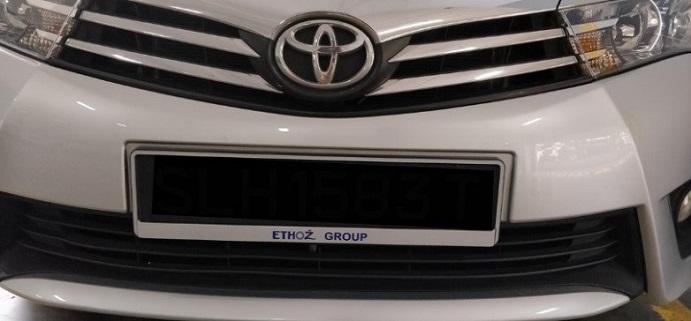Motorist Ethoz License Plate 2