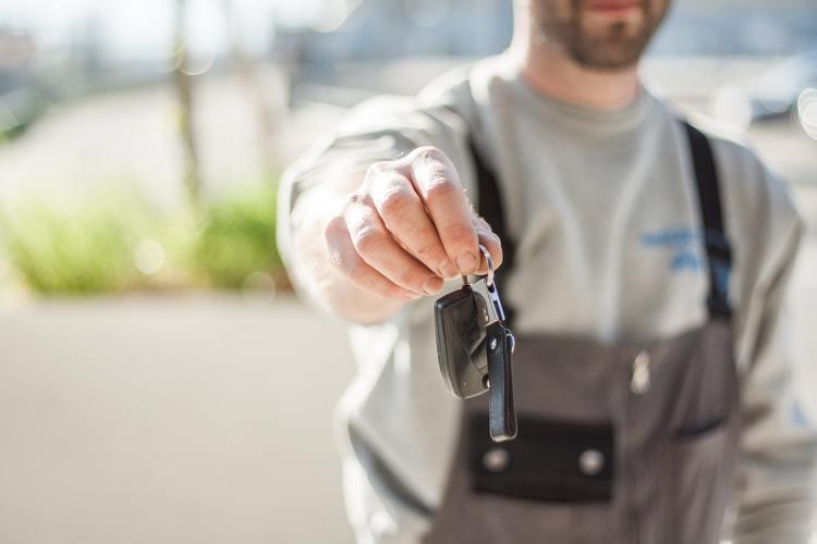 Handing Passing Over Car Keys