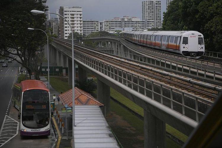 Singapore Public Transport train bus