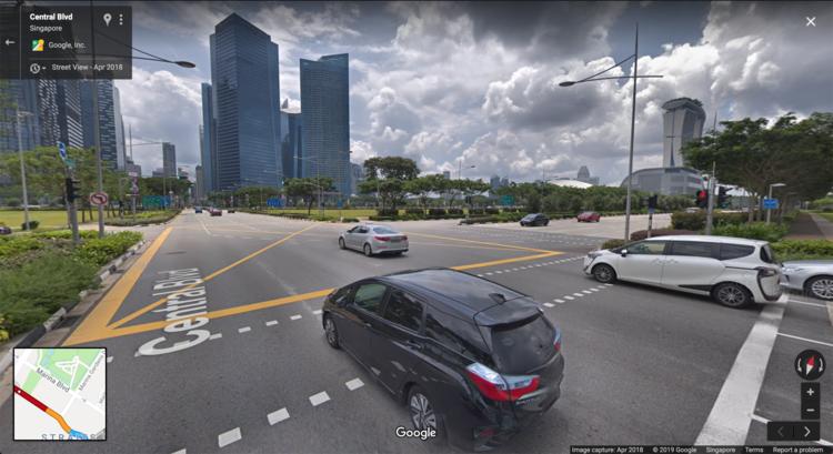 Central Boulevard Jam Singapore Sheares Avenue Junction