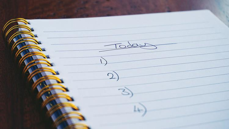 checklist to do list today