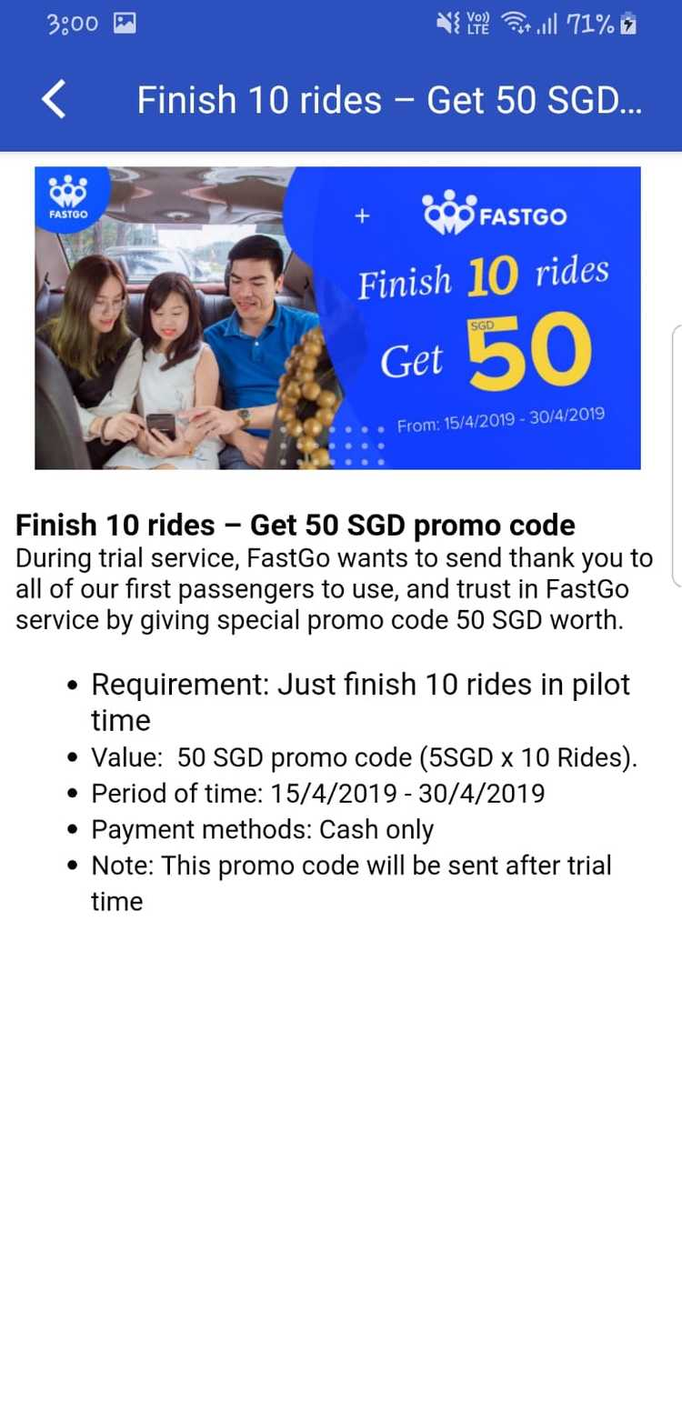 New Ride-Hailing Firm FastGo Launches Trial Service in Singapore