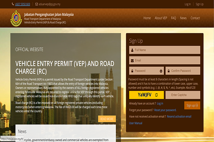 How To Apply A Malaysia Vehicle Entry Permit (VEP